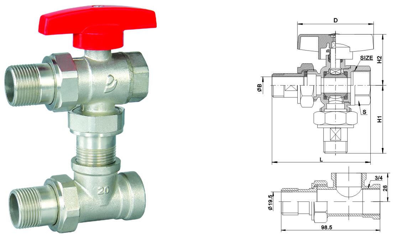 jt1300 电镀工程三通阀 - 暖气三通阀系列 - [推荐]佳图片